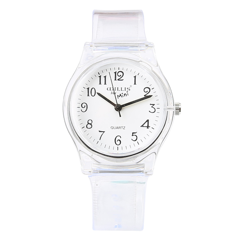 New Fashion Enkel Transparent Mini Quartz Watch Vattentät Silikon - Barnklockor - Foto 2