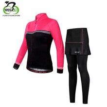 WOSAWE Women Cycling Clothing Roupa Ciclismo 3D Gel Pad Cycling Jersey Set 2019 Quick Dry Windproof Road Mountain Bike MTB Pant стоимость