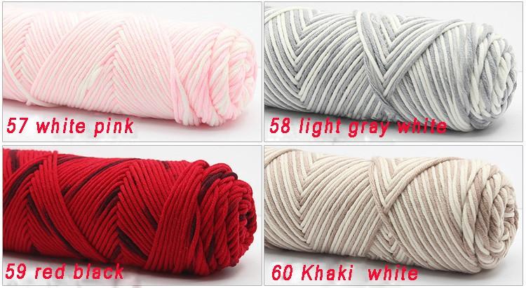 100g/pcs Natural Soft Silk Milk Cotton Yarn Thick Yarn For Knitting Lover Scarves Knitting Wool crochet yarn weave thread 14