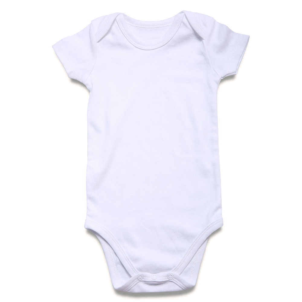 675a5770a ... 5 Pcs/lot White Baby Bodysuit Blank Unisex Newborn Baby Clothes Short  Sleeve Summer Clothing ...