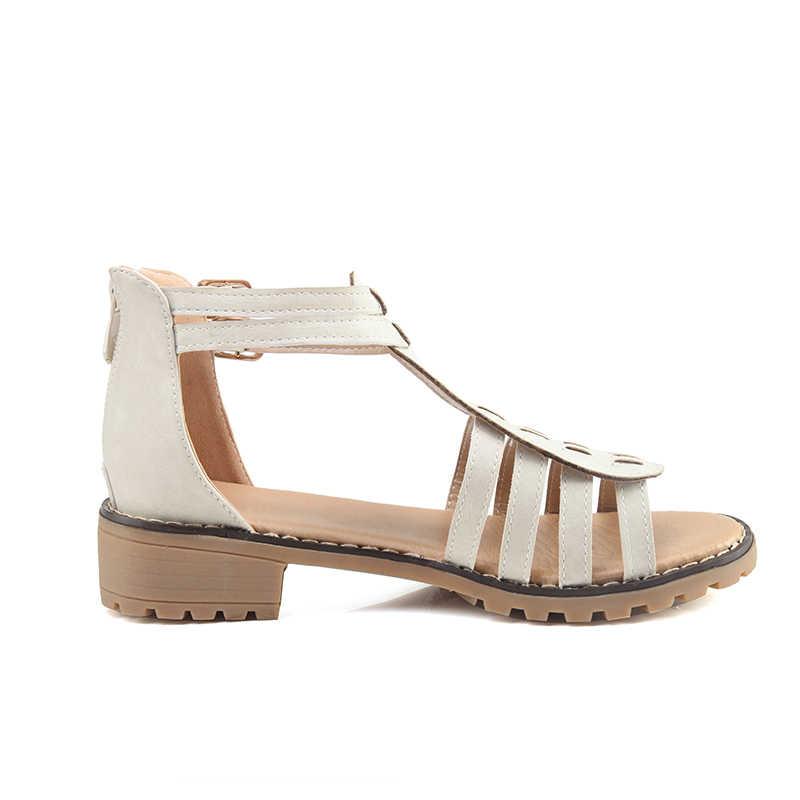 Karinluna 2018 חדש סגנון גודל גדול 35-43 רומא גלדיאטור קיץ סנדלי אישה נעלי אופנה לרכוס נעליים יומיומיות נשים