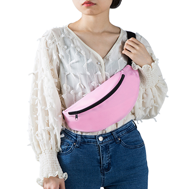 Fashion Waterproof Waist Bag Unisex Fanny Pack Ladies Pink Nylon Belt Bag Bum Hip Ass Bag Belly Purse High Quality Belt Bags