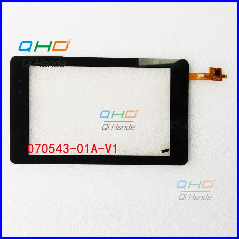 Black New For 7'' inch Tablet PC handwriting screen 070543-01A-V1 Touch screen digitizer panel Repair CTP070543-01 140404A free shipping 1pcs new 7 inch tablet pc handwriting screen zj 70158c jz touch screen digitizer glass sensor panel repair