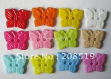NB094 Butterfly shape 18mm*15mm mixed colors 350pcs 2 holes plastic shirt button single color available