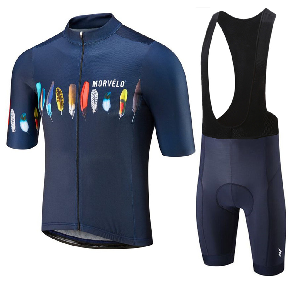 Cycling Jersey 2019 MORVELO Maillot Ropa Ciclismo Hombre Team Bike Clothing Quick-dry Short Sleeve Set MTB Bicycle Clothes 9D GE