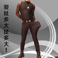 Men Sexy High-elastic Spandex Tight Pants Slim Casual Stylish Trousers