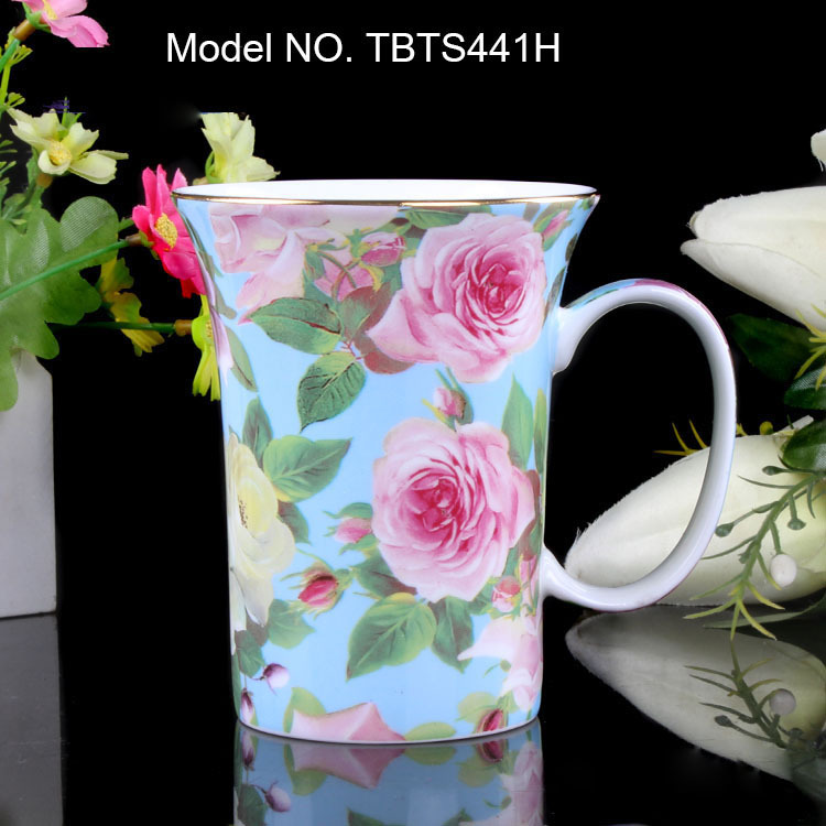 China Tea Cups Mugs Uk Cute European Bone Cup Ceramic Coffee Blue Red Flower Antique Free Shipping In From Home Garden