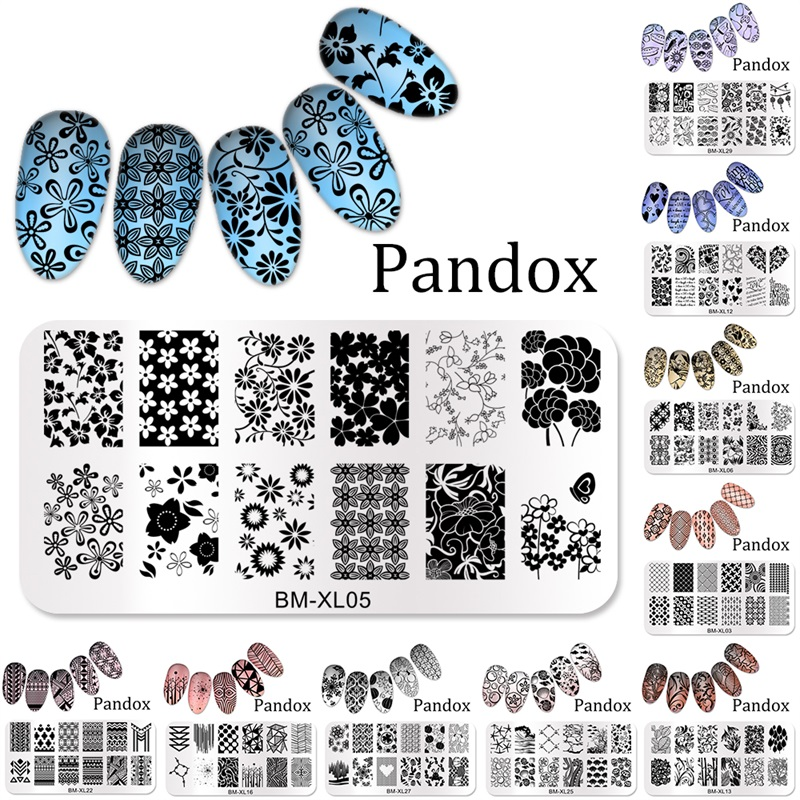 2019 New Series BM Nail Stamping Plate DIY Image Konad Nail Art Manicure Templates Stencils Salon Beauty Polish Tools