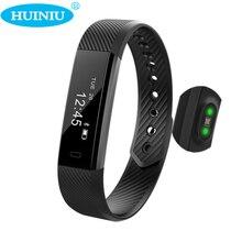 Huiniu id115 hr монитор сердечного ритма смарт-группы фитнес сна трекер вызова напоминание браслет счетчик шагов для iphone android телефон