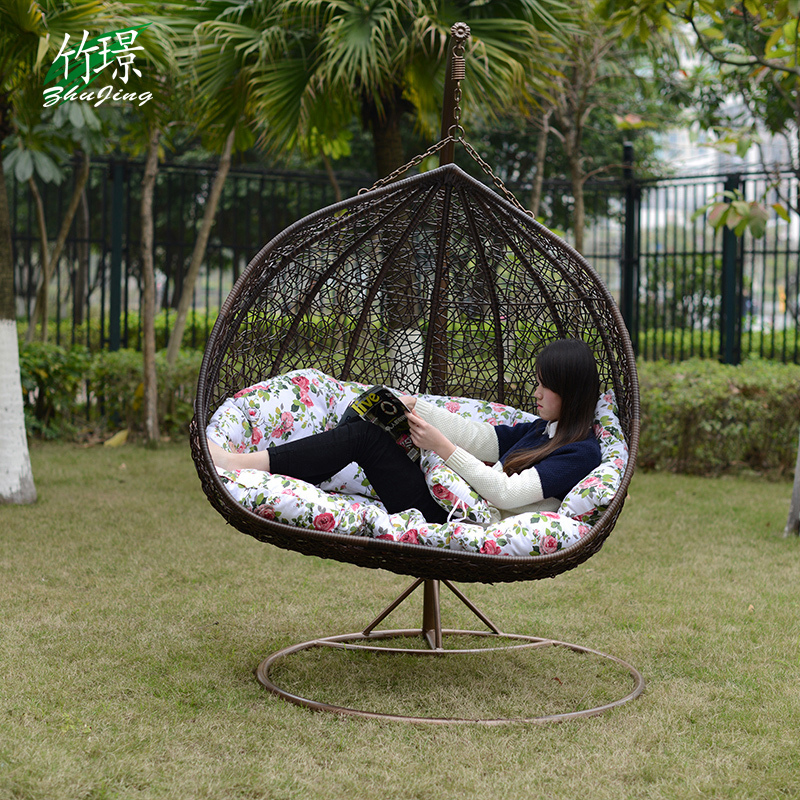 Attractive Jing Bamboo Basket Hanging Garden Patio Rocking Chair Swing Imitation  Wicker Chairs Outdoor Balcony Lounge Chair Double Chair Fr In Patio Swings  From ...