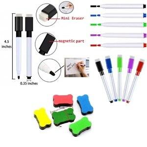 Image 5 - Магнитная доска для сушки и сушки холодильника A3, 5 тонких маркеров, 1 ластик, магнитный органайзер для холодильника, планер, доска напоминаний