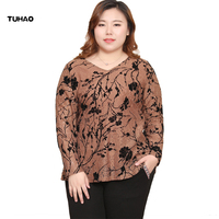 TUHAO 2019 Spring Women Tops and Blouses Plus Size 10XL 8XL 6XL Women's Blusas Femininas Shirts Crochet Blouse Lace Shirt JLSM