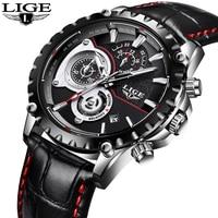 Luxury Brand LIGE Watch Men S Fashion Sport Military Quartz Watch Men S All Steel Business