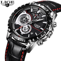 Luxury Brand LIGE Watch Men S Fashion Sport Military Quartz Watch Men S All Steel Business