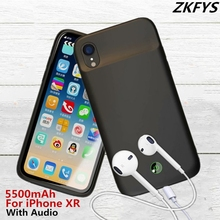 Portable 5500mAh High Quality Fast Phone Charger Battery Case For iPhone XR Thin and light Power Bank Cover With Audio