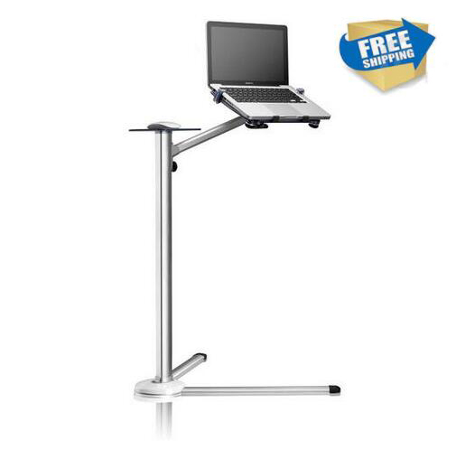 free shipping 360 Degree Rotation Height Adjustable Laptop Floor Stand With Mouse Tray Aluminum Ergonomics Laptop Holder UP-7