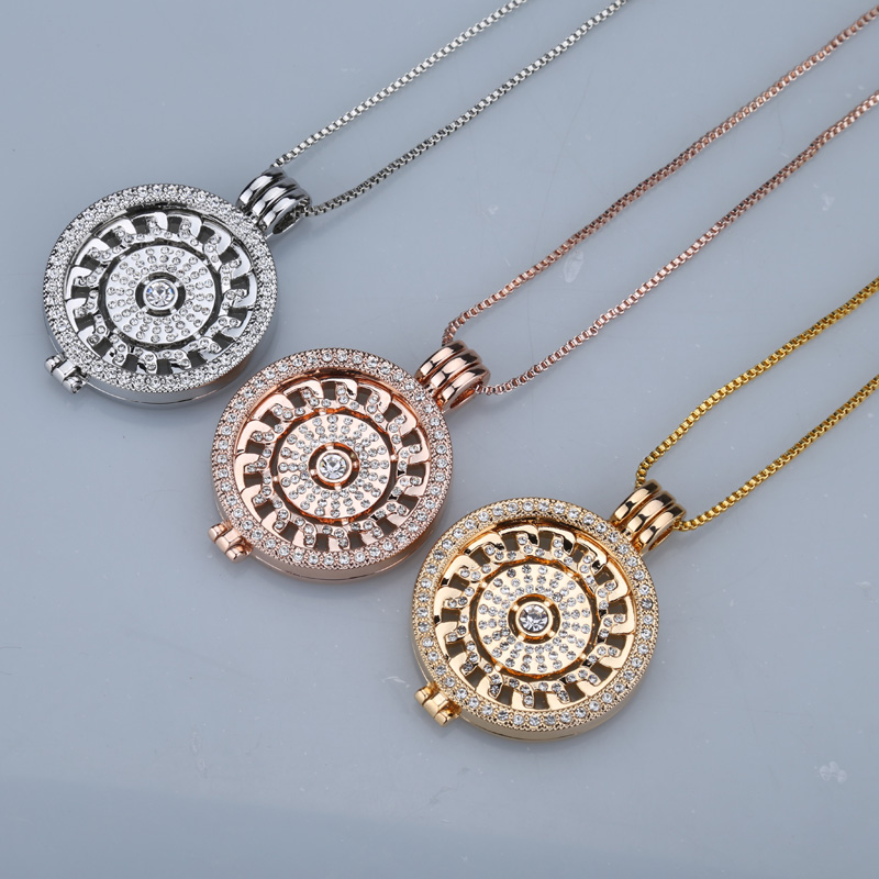 New rose gold antar hangeable kalung 35mm kalung fashion cocok saya - Perhiasan fashion - Foto 2