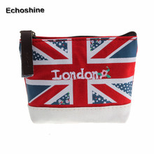 2016 fashion and hot sale Union Jack Embroidered Admission Package Canvas Coin Purse Hand Bag free shipping and wholesale
