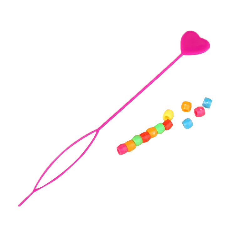 Lady Colorful Plastic Beads Decor Hair Braid Ponytail Maker Styling Tool  FySJBE