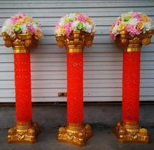 4pcsThe wedding golden Roman column Chinese way.