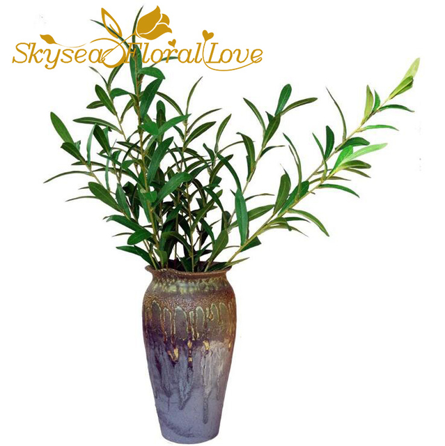 high quality artificial plants olive branch silk flower home table