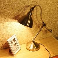 bronze brush desk lamps bedroom bedside lamp study office desk light bedside reading lamp reading light industrial table lamps