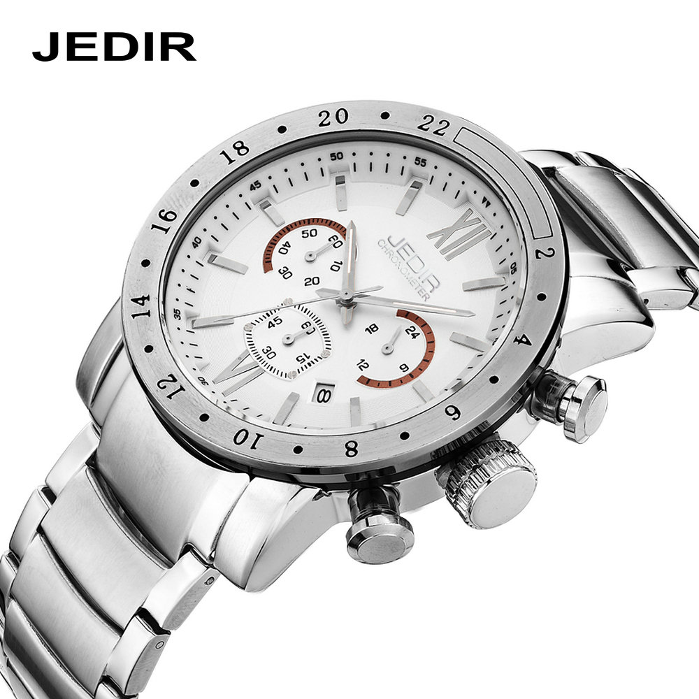 JEDIR Top quality Watch Men Casual Male Quartz Business Men's Watches Hours Wristwatches Stainless Steel band clock montre homme casual leather band mens watch fashion business analog display quartz wristwatches montre homme water resistant luminous clock
