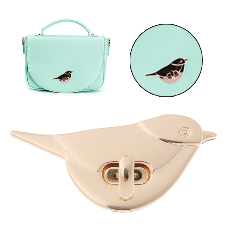 THINKTHENDO Bird Shape Clasp Turn Twist Lock DIY Leather Handbag Shoulder Metal Bag Buckles Bag Accessories