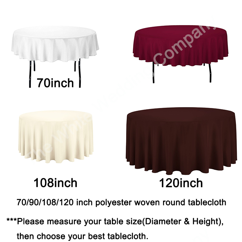 Round Table Skirts Decorator.Us 127 89 10pcs 70inch White Classic Christmas Halloween Round Tablecloth Decor For Home Outdoor Kitchen Round Decorator Table No Seam In