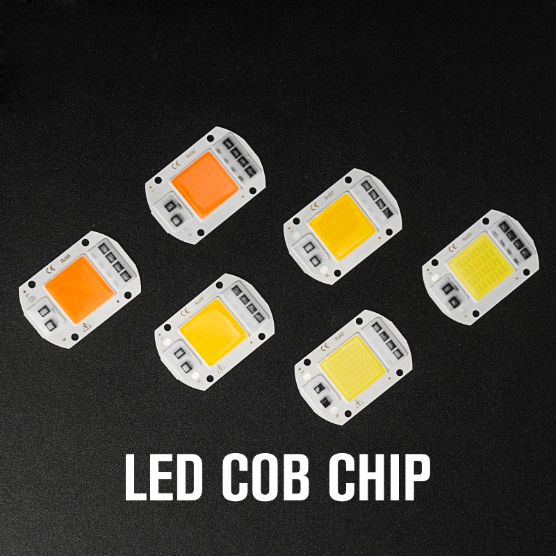 10PCS/Lot Led COB Grow Light Chip Full Spectrum 20W 30W 50W 380nm-780nm Phyto Lamp 220V For Hydroponics Flower Greenhouse Plant