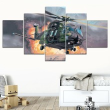 5 Pieces Canvas Painting Helicopter For Modern Decorative Bedroom Living Room Home Wall Art Decor On Framework