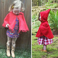 Top Quality Winter Autumn Baby Girls Sided Wool Cloak Red With Hooded Kids Fashion Clothes Children Casual Jackets Tassel Sale