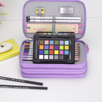 Oxford School Pencil Case Kawaii 36/48/72 Holes Penalty Pencilcase Large Pen Bag Box Multi Kids Multifunction Stationery Pouch sketch school pencil case 72 holes penalty pencilcase large zipper pen bag four multi layers boy girls set box stationery pouch
