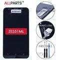5.5 ДЮЙМОВ 100% Испытанное в Исходном 1920x1080 Дисплей Для ASUS Zenfone 2 ZE551ML Сенсорный ЖК-Экран Digitizer Ассамблеи с Рамкой