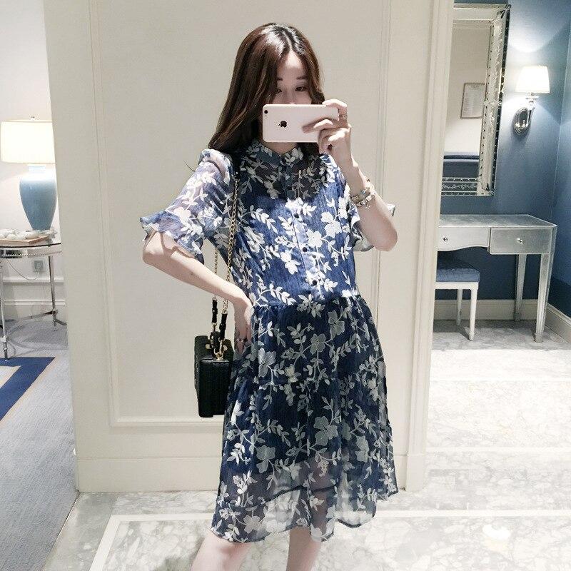 Two-pieces 2018 Summer New Fashion Cute Maternity Dress For Pregnant Women Dress Plus Size Slim Pregnancy Women Dress Chiffon