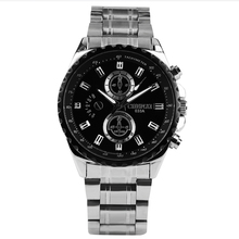 цены на Men's Watch Luxury Quartz Analog Sports Wristwatch Stainless Steel Strap Folding Clasp with Safety Diameter 44mm  в интернет-магазинах