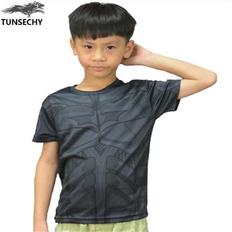 2017 chłopiec koszulka spider-man kompresji lycra koszulka z krótkim rękawem drukowanie na kreskówki dla dzieci chłopiec ubrania dla dzieci