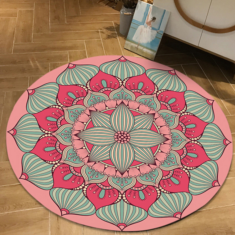 Persian Floor Chair Mat Cloakroom Rugs And Carpets Mandala Yoga Non-slip Round Carpet For Living Room