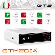 GTmedia GTS Android 6.0 TV BOX DVB-S2 satellite receiver 2GB RAM 8GB ROM support iptv cccam m3u bluetooth with 1 year free iptv цена