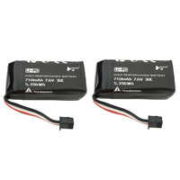 Rc Part Lipo Battery 2PCS 7.6V 710mAh Lithium Battery For The Spare Parts Of Hubsan H122D Drone High Quality Rechargeable