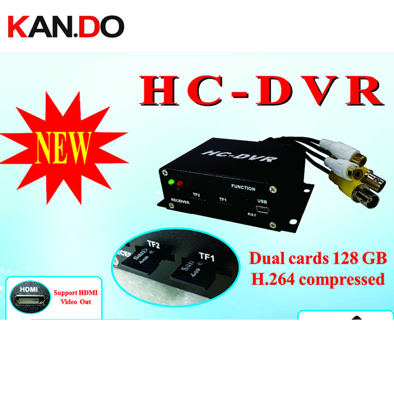 HC-DVR SUPPORT Dual Card 128GB TF SD Card Mini DVR 1CH Video+1CH Audio H.264 HDMI USB CCTV Camera Video Recorder Remote MINI dvr cwh c dvr mini sd card dvr for cctv with audio and video input and output mini dvr support upto 32gb sd card