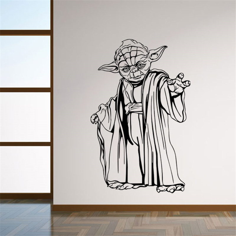 star wars yoda wall sticker online get cheap starwars wall decals aliexpress com
