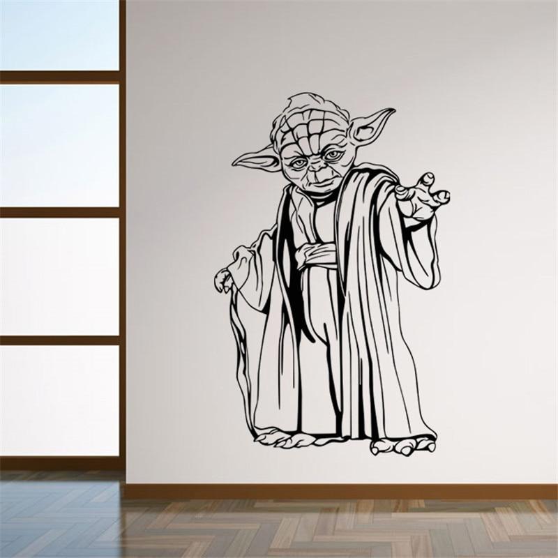 Nueva Llegada de Star Wars Yoda Personajes Pegatinas de Pared Poster 8559 Arte d