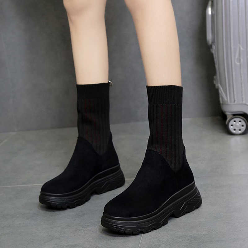 Spring And Autumn Fashion warm snow boots 2018 winter new women ankle boots