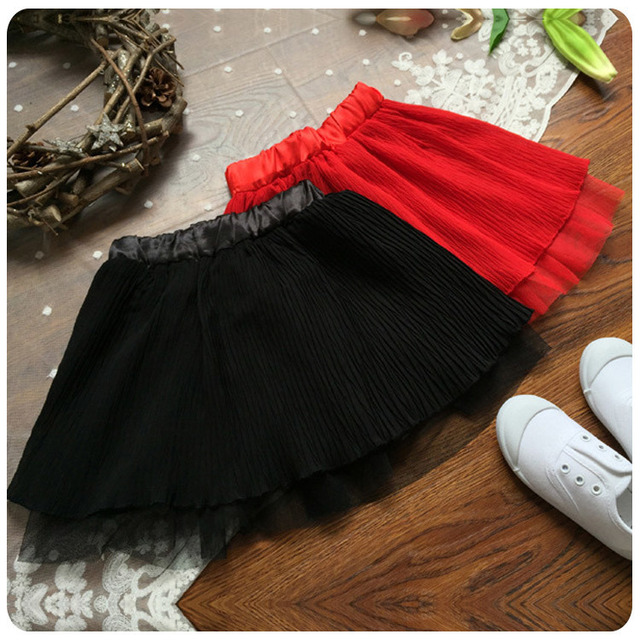 2016 Spring Summer New Style Korean Children's Garment Baby Yarn Count Girl Half-body Full Skirt All-match Umbrella