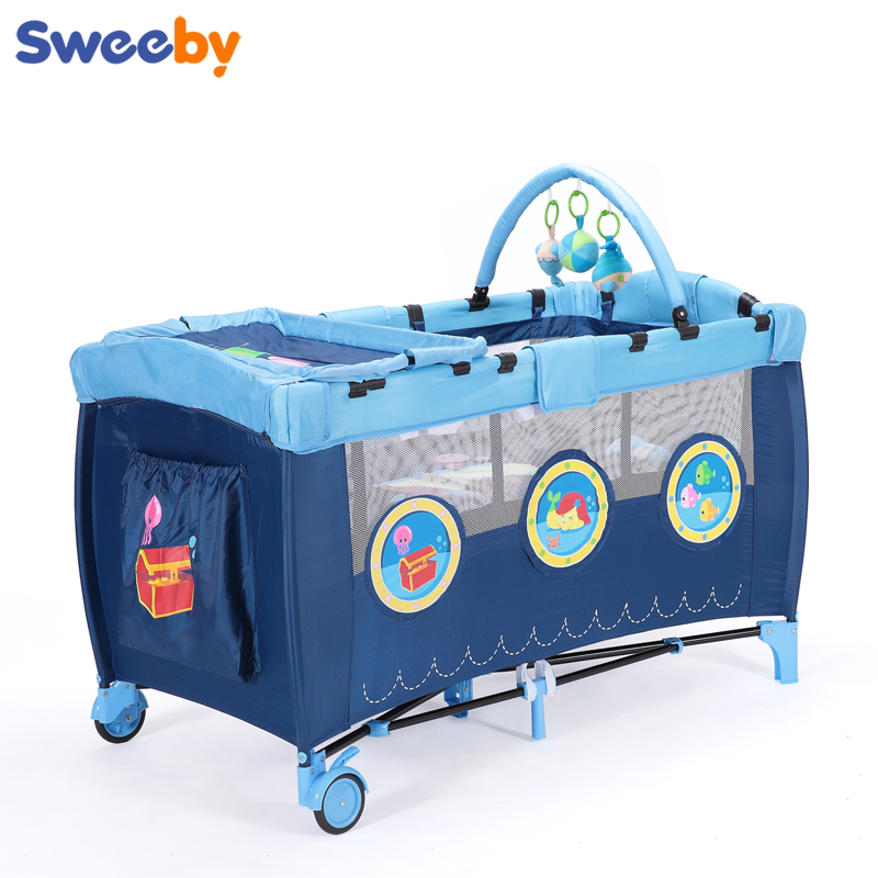 Sweeby baby bed folding child game bed portable baby bed concentretor fashion multifunctional bb bed цены онлайн