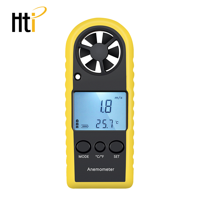 Handheld Anemometer Portable Wind Speed Meter  Meter Wind Gauges Air Flow Thermometer With LCD Backlight