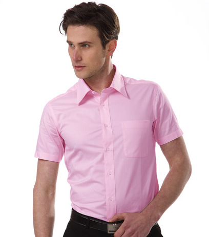 Mens Pink Short Sleeve Shirt Custom Shirt