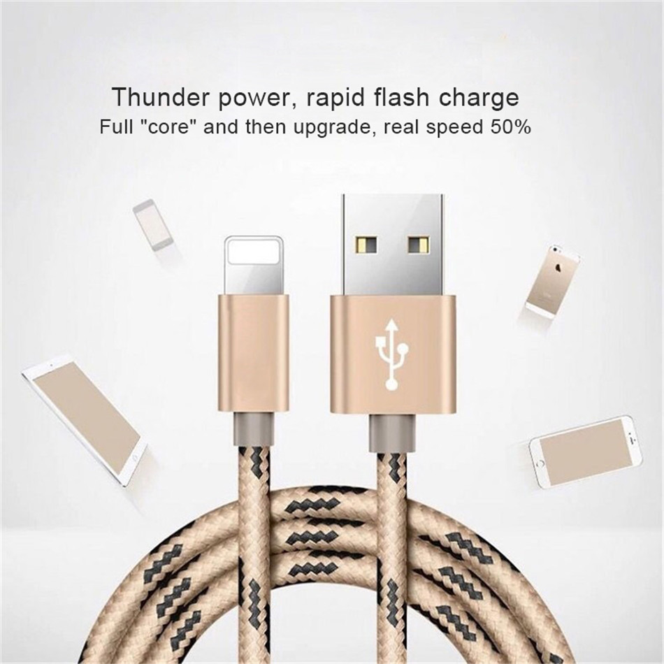 NOHON 2PC USB Fast Charging Data Cable For Apple For iPhone XS MAX XR X 7 6 8 6S 5S 5 Plus For iPad Mini 8 Pin Phone Charge Cord (1)