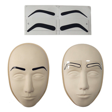 50pcs Microblading Accessories Eyebrow Ruler Sticker for Permanent Makeup Disposable Stencil Tattoo Tools Supplies
